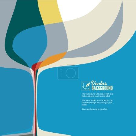 Illustration pour Illustration vectorielle abstraite avec silhouette de verre à vin . - image libre de droit