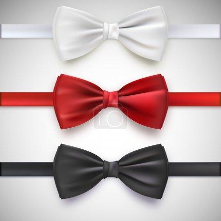 réaliste de nœud papillon blanc, noir et rouge