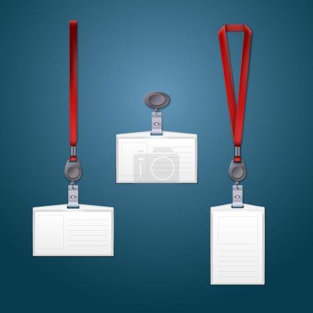 Lanyard, retractor and badge templates.