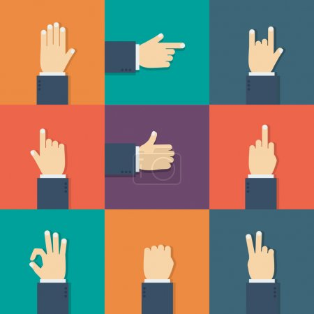 Illustration pour Mains icône plate. Illustration vectorielle pour votre start-up . - image libre de droit