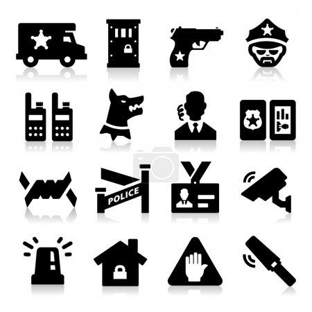 Illustration pour Icônes de sécurité - image libre de droit