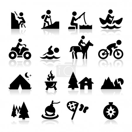 Illustration for Recreation icons - Royalty Free Image