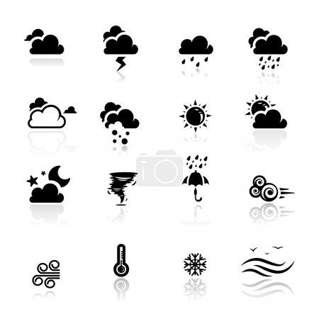 Illustration pour Icônes ensemble Météo - image libre de droit