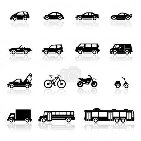 Illustration for Icons set vehicles - Royalty Free Image