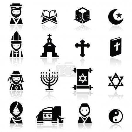 Photo pour Icônes ensemble Religion - image libre de droit