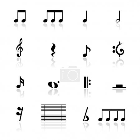 Icons set music notes