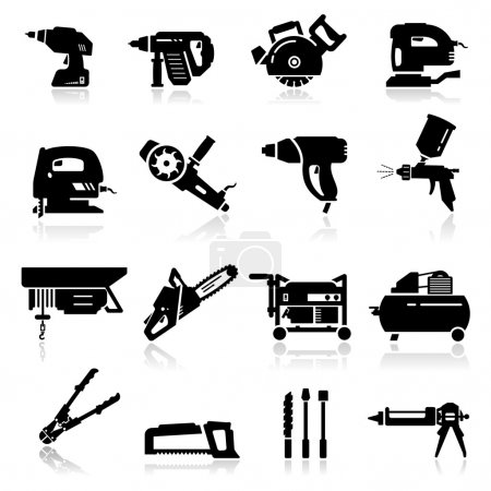 Icons set Industrial Tools...