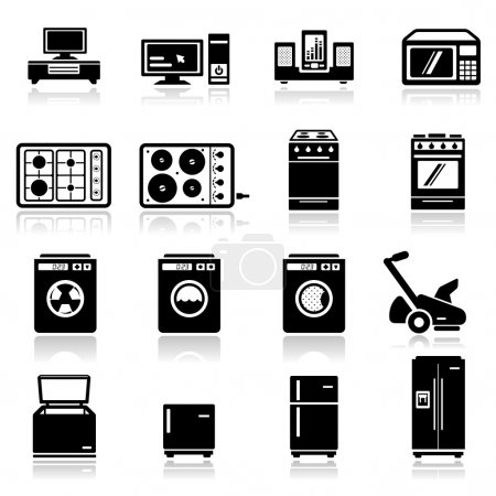 icônes définies électroménagers