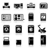 Icons set home appliances