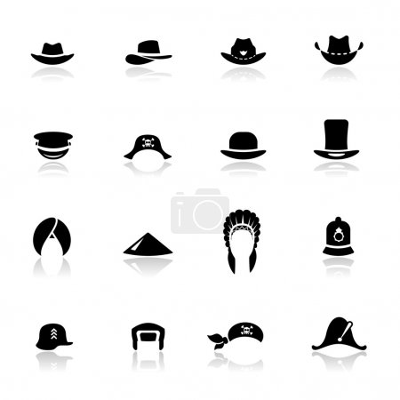 Icons set hats