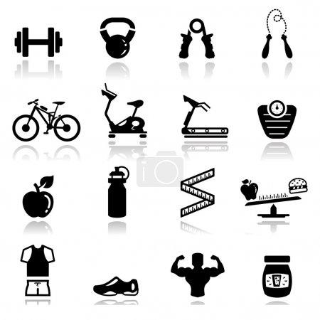 Icons set home appliances