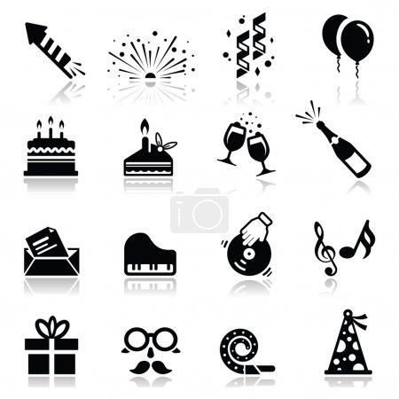 Illustration pour Icônes simplifiées, pas de couleur blanche, les icônes sont transparentes et prêtes à glisser-déposer. Ombre sont sur un calque séparé - image libre de droit