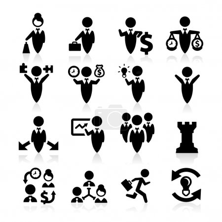 Business Concept icons set elegant series