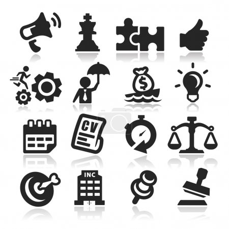 Business concepts icons set Elegant series