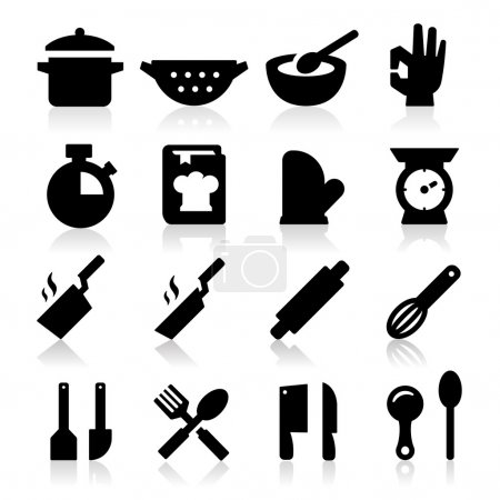 Illustration for Cooking icons - Royalty Free Image