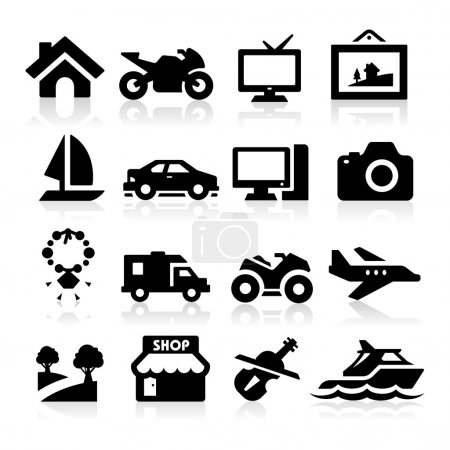 Illustration for Property Icons set - Royalty Free Image