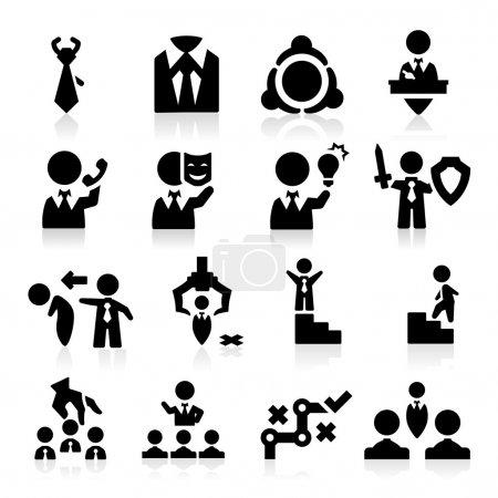 Executive icons set Elegant series