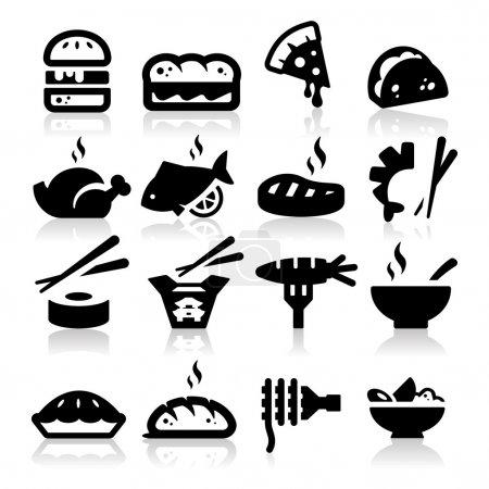 Illustration pour Icônes de type alimentaire - image libre de droit