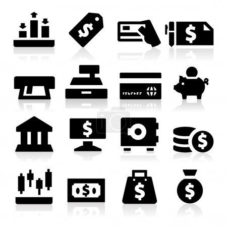 Illustration pour Icônes d'argent - image libre de droit
