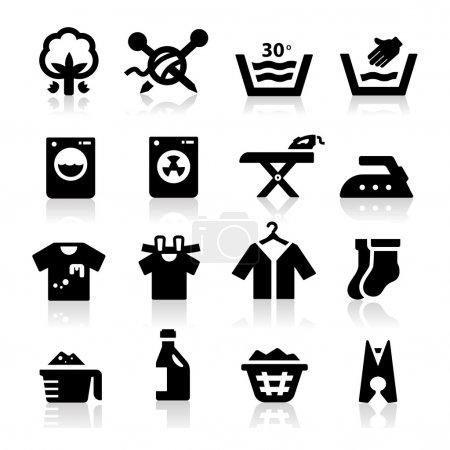 Illustration for Laundry Icon - Royalty Free Image