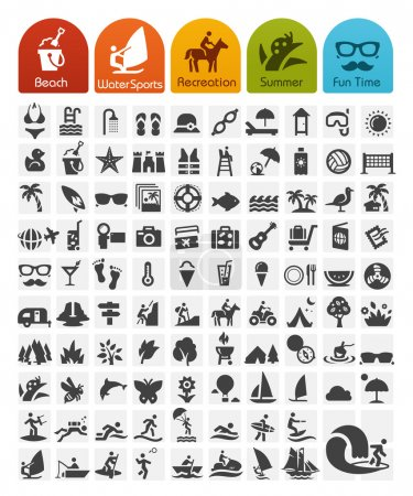 Illustration for Summer Icons Bulk Series - Royalty Free Image
