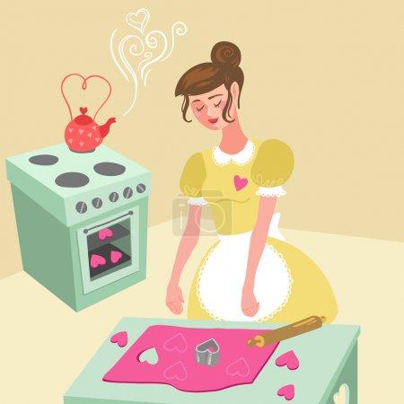 Housewife girl