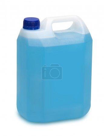 gallon of blue detergent