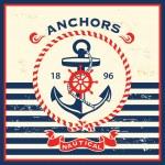 Vintage nautical template design
