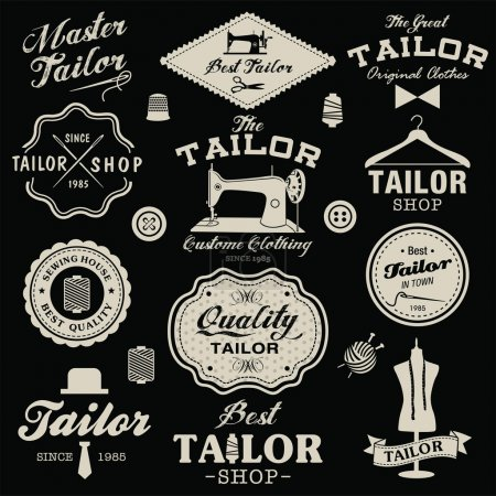 Vintage design elements. Set of retro labels, badges and icons