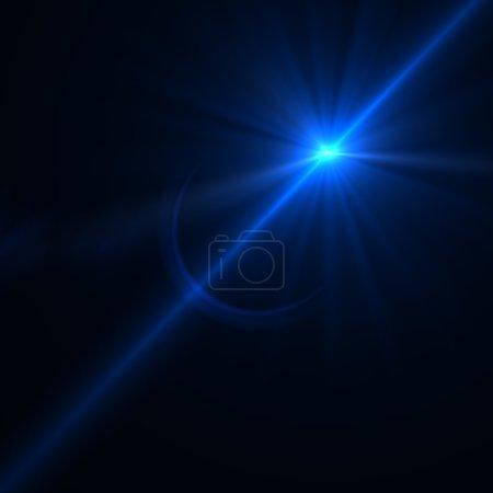 Photo pour Lens flare effet sur un fond noir pour votre conception - image libre de droit