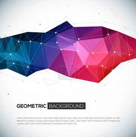 Abstract 3D geometric colorful background.