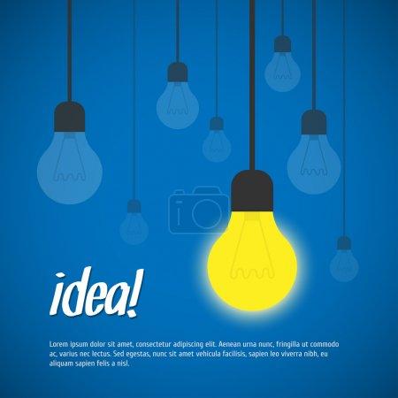 Illustration pour Illustration vectorielle d'idée d'ampoule - image libre de droit
