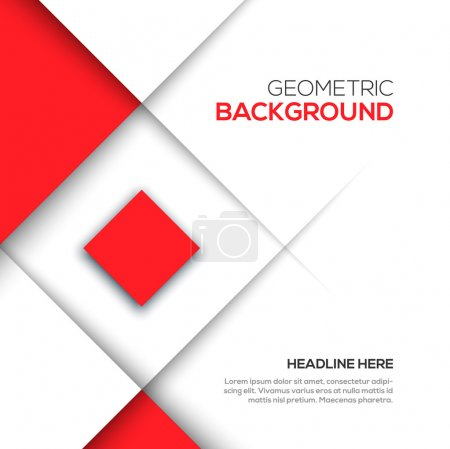 Illustration for Geometric red 3D background - Royalty Free Image