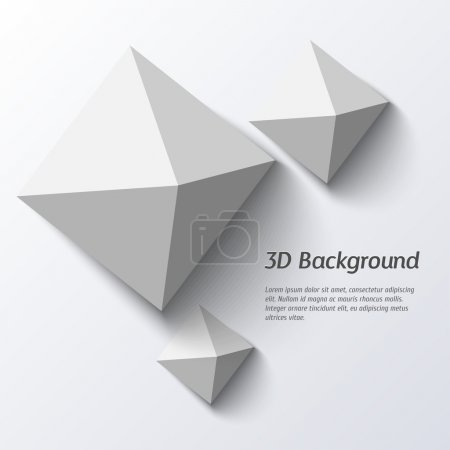 3d geometric abstract background.