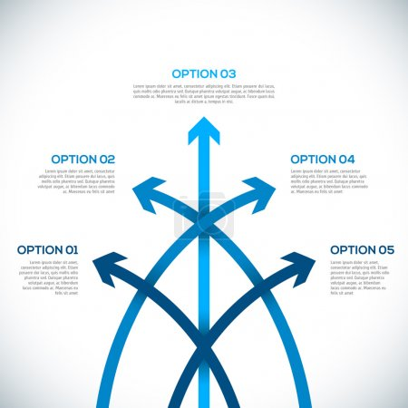 Illustration for Infographics template with arrows. vector illustration - Royalty Free Image