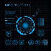 HUD and GUI set Futuristic User Interface
