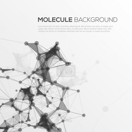 Molecule structure vector background.