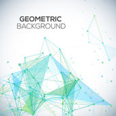 Vector background with polygonal abstract shapes