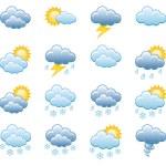 Meteorology Icons Set; Vector Illustration...
