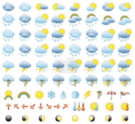 Illustration for Meteorology Icons Set. Vector Illustration. - Royalty Free Image