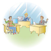 Office workers