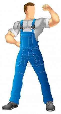 Faceless worker
