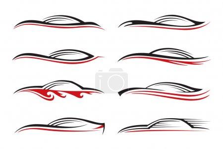 Eight cars