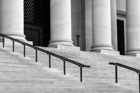 Pillars and Stairs to a Courthouse