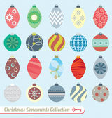 Collection of retro style Christmas ornaments