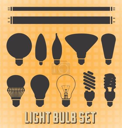 Vector Set: Light Bulb Silhouettes