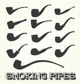 Vector Set: Retro Smoking Pipes