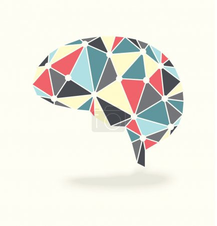 Illustration for Vector brain abstract design with vintage color scheme - Royalty Free Image