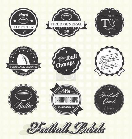 Vector Set: Football Champions Labels and Icons