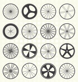 Collection of retro style bike wheel silhouettes